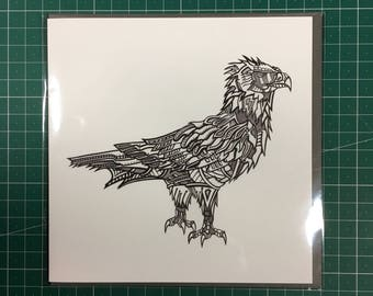 Robot Golden Eagle Greetings Card 150mm x 150mm