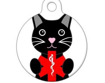 Medical ID Tag - Kitty Cat Medical Alert Pet Tag, Cat Tag Child ID Tag