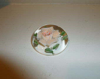 Vintage Lucite Brooch with Flower