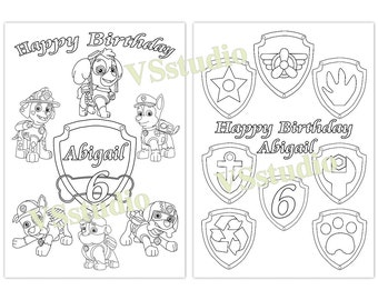 paw patrol birthday coloring pages - photo#25