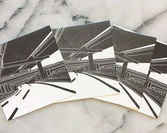The 10 West, Set of 4 Cards with Envelopes