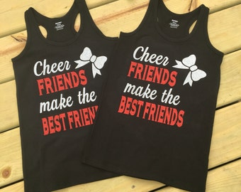 "Adult ""cheer friends make the best friends"" tank top"