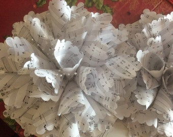 Sheet Music, Book, or Map Wreath 12 Inches Wide May be Customized
