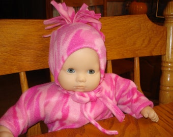 Sleeper and Hat fits 15 inch Baby Doll such as Bitty Baby Doll