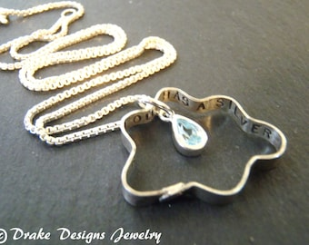 Rain Cloud Necklace Every Cloud has a silver lining sterling silver inspirational jewelry