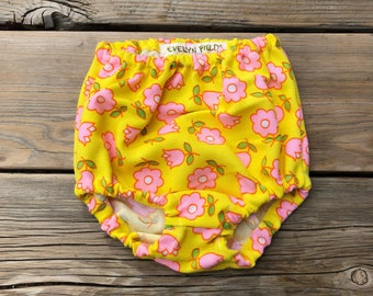 High waisted Bloomers- 6 month old high-waist bloomer girls fashion outfit kids fashion clothes new baby vintage floral boho bohemian hippy