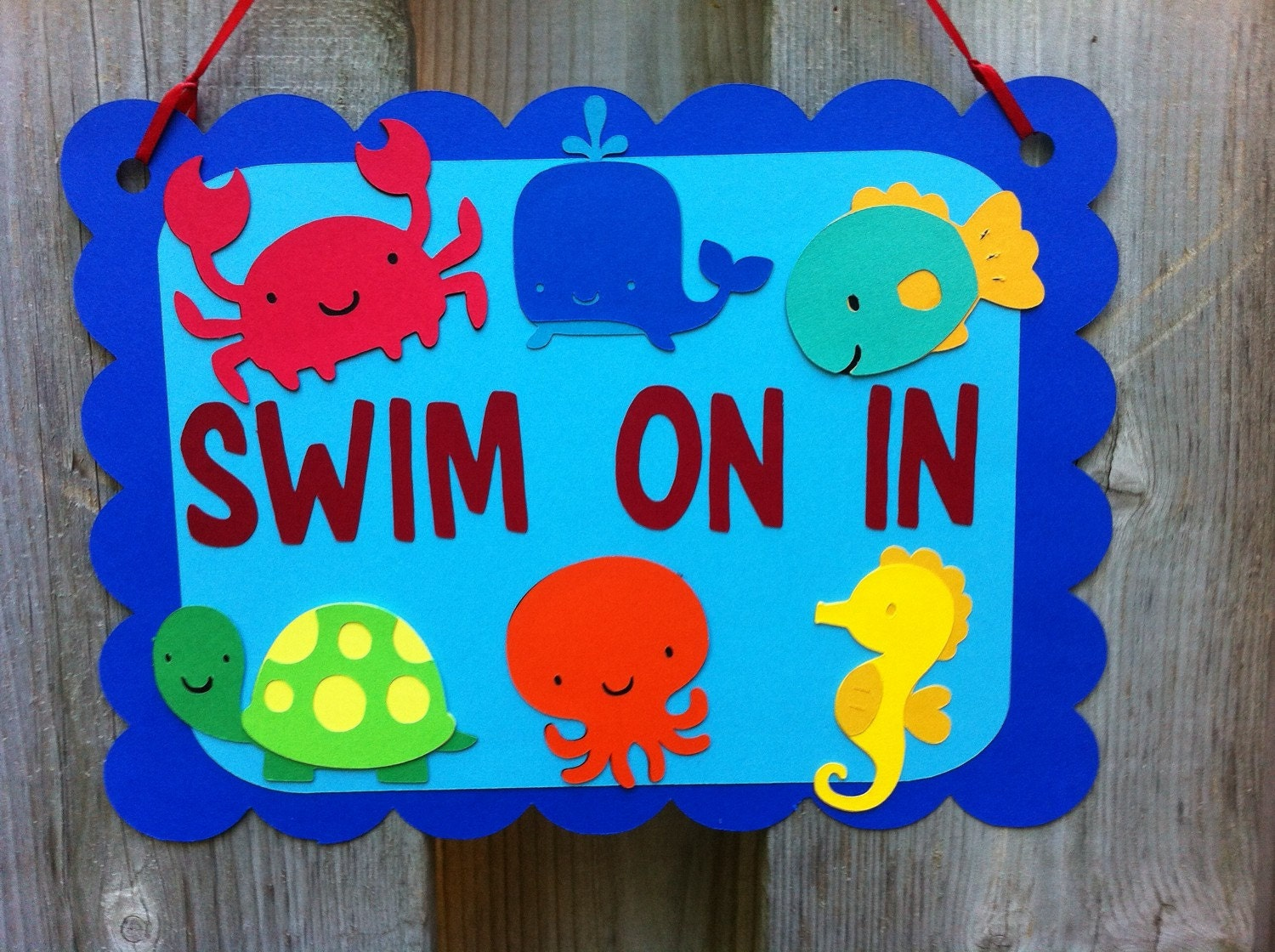 Favorite Under the sea theme Door sign Sea Life Party Decorations QB71
