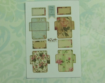 Dollhouse Miniature Two Sets Of DIY Stationary Notes