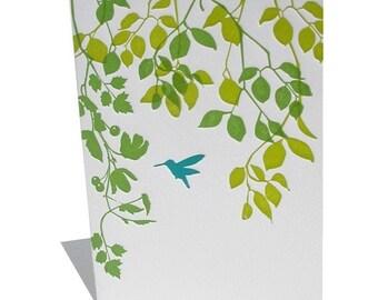 4B Hummingbird letterpress notecard set