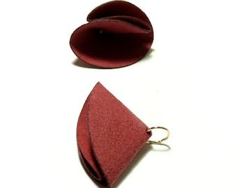 4 tassels passementiere charm suede red (S1197691)