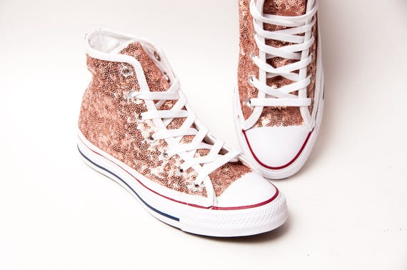 converse rose gold high tops