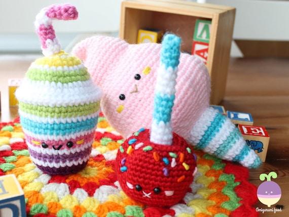 Amigurumi Food : Crochet pattern amigurumi food carnival party play food cotton