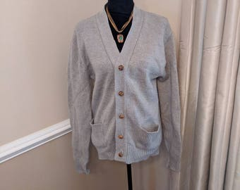 Vintage Grey Button Down Sweater