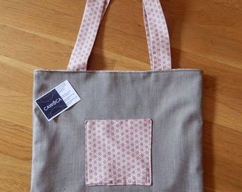 Tote bag in linen, cotton lined. Unique piece. Madeira collection.