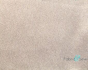 "Khaki Taupe Crepe Back Satin Fabric Polyester 7.5 Oz 58-60"" 330750"