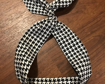 Houndstooth Wire Twist Headband