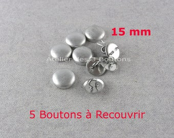 """5 Cover Buttons 5/8"""" (Size 24)"""