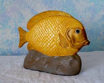 Ceramic Fish, Yellow