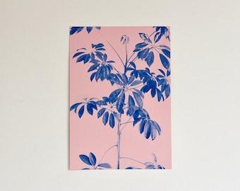 A3 Plant Risograph Print