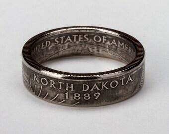 North Dakota State Quarter Ring