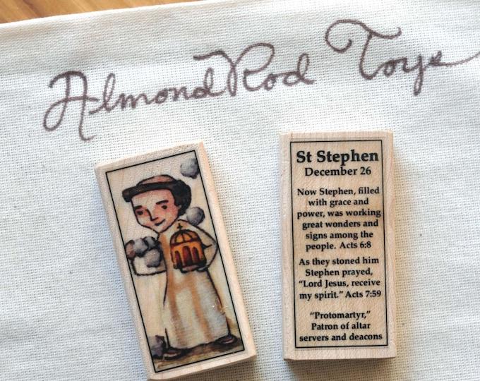 St Stephen Patron Saint Block