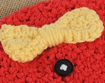 Plain Jane Bow  | Bow Applique Crochet Pattern | Crochet Bow Applique Pattern | Easy Crochet Boy Pattern | Crochet Bow Applique PDF Pattern