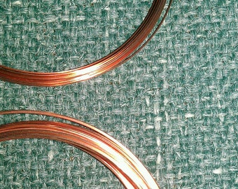 21 Gauge Square and Half Round Copper Wire Set