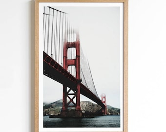 Golden Gate Bridge - San Francisco Print - San Francisco Art - Golden Gate Print - Bridge Print - California Art - California Decor