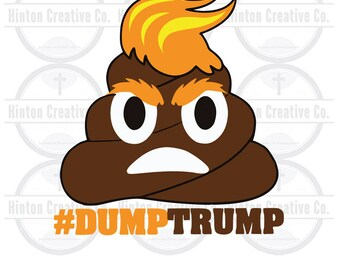 Dump Trump Digital Cut File Print File SVG Circuit Silhouette Brother Image Custom Unique Design