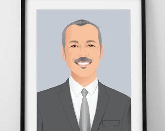 Custom portrait, Personalized Illustration, Portrait Illustration,