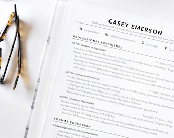 Resume Template, Resume, CV, Instant Download Resume, Classic Professional  Resume For Word