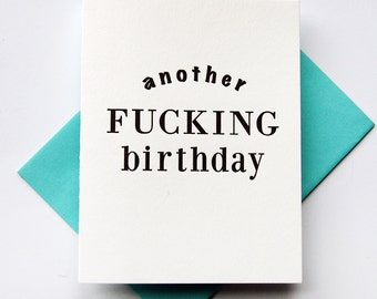 Letterpress Birthday Card - F*ing Bday
