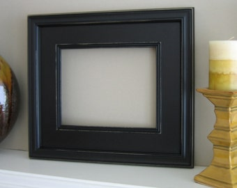 IN STOCK 11x14 Wood Picture Frame / Plein Air Style / Solid Black