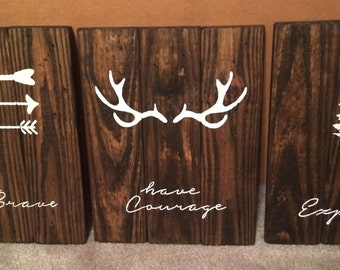 Custom Recycled Wood Stained/Painted Signs