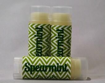 Spearmint Lip Balm - Mint Flavor - Natural Lip Balm - Handmade