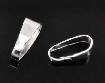 Set of 10 CLIPSERS 11x4mm silver-plated BAIL