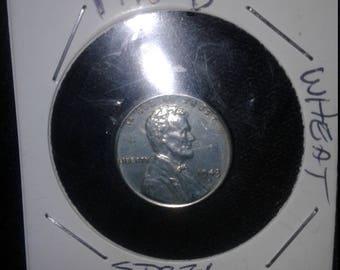 1943 D steel wheat penny.