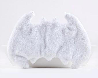 Batman Sleep Mask, White Travel Eye Mask, Slumber Party, New Mom Gift, White Mask, Fluffy Gift for Her, White Blindfold, US Express