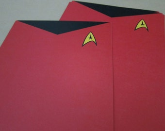 Star Trek - Red Shirts Writing Sheets
