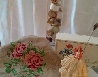 Sweet vintage rose stool cover