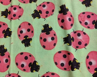 Various ladybug all between 1/4 and 1/2 yard Total of 6 patterns sold individually. **inquiren on price and availability  before  buy