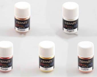 Cernit Mica Powder - Metallic and Interference Pigment Powders for Polymer Clay, Resin, Nail Art, Crafts