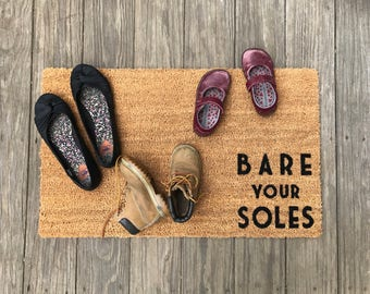 Bare your Soles™ Door Mat (doormat) - lets your guests know to take off shoes