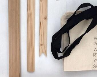 Loom Weaving Kit / Cedar / Frame Loom / Weaving Kit / The Bluestem / Weaving Tools / Textile Weaving Kit / Fiber Arts / Wall Hanging Kit