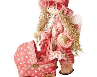 "Doll Making Kit, Set for sewing doll, Textile doll ""Angel"", Set for textile doll, Handmade doll, Sewing kit, Rag doll, FREE SHIPPING"