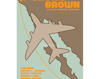 Film poster Jackie Brown 12x18 inches retro print