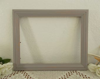 Gray Picture Frame Upcycled Vintage Wood 11 x 14 Grey Photo Decoration Rustic Shabby Chic Beach Cottage Coastal Seaside Nantucket Home Decor