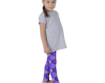 Purple Mermaid Leggings, Mermaid Scale Leggings, Mermaid Pajamas, Mermaids, Under the Sea, Mermaid Scales, Halloween Costume, Dance Costume