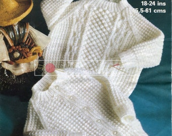 """Baby Cardigan and Sweater DK 18-24"""" Marriner 1963 Vintage Knitting Pattern PDF instant download"""