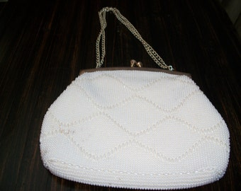 Faux Pearl Evening Purse